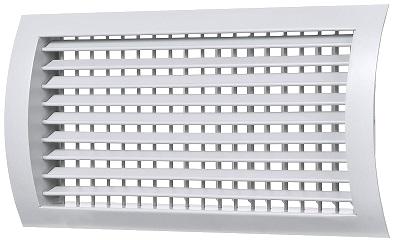 Двухрядная полукруглая регулируемая решетка с клапаном расхода воздуха РС-ГЦ